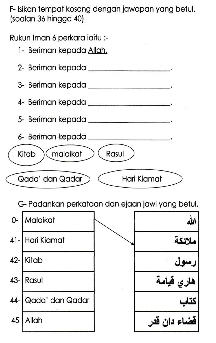 116551194 Soalan Pendidikan Islam Tahun 1