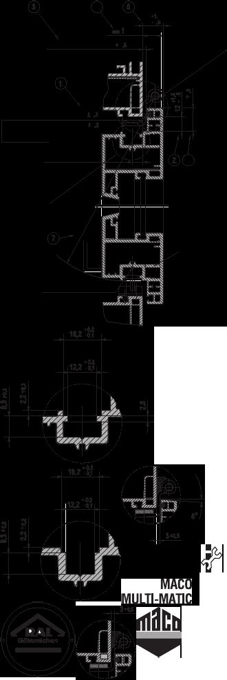 MACO Schlie/ßteil Euronut 6//8//4 silber ; 1 St/ück 34921 Falzluft 12 mm